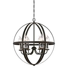 home depot outdoor chandelier lighting westinghouse stella mira 6 light oil rubbed bronze with highlights