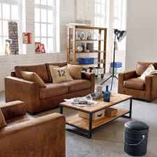 canape deco cuir joli canape modulable set salon la décoration style industriel
