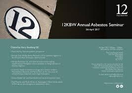 annual asbestos seminar 12 king u0027s bench walk