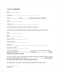 sample vehicle sales contract 7 examples in word pdf