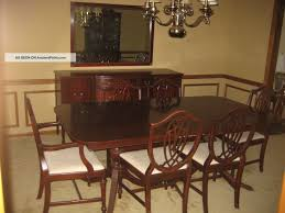 S Duncan Phyfe  Piece Mahogany Dining Room Set - Mahogany dining room sets