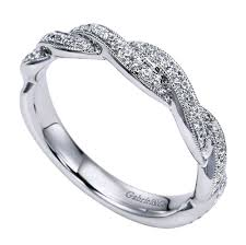 braided band 18k white gold braided vintage pave diamond band wedding day diamonds