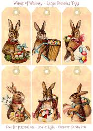 my easter bunny large bunnies tags wings of whimsy