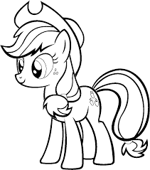 applejack coloring page line drawings 11197