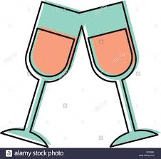 champagne celebration cartoon champagne flute illustration stock photos u0026 champagne flute
