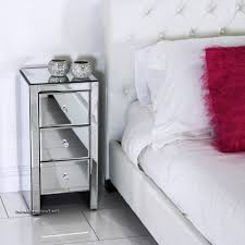 furniture inspired x base mirrored nightstand modern accent
