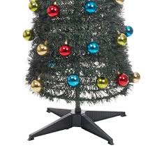 Pre Decorated Christmas Tree Uk by Christmas Tree Pop Up 60 Led Tinsel Baubles Pre Decorated Pre Lit