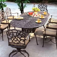 Black Cast Aluminum Patio Furniture Outdoor Patio Dining Table For 8 8 Seater Metal Garden Furniture