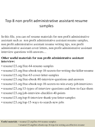 Sample Resume Of Executive Assistant by Top 8 Non Profit Administrative Assistant Resume Samples 1 638 Jpg Cb U003d1431823136