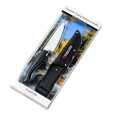 kyocera ceramic outdoor camp kitchen knife and sheath set black