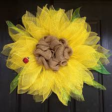 deco paper mesh shop deco mesh sunflower wreath on wanelo