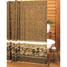 Western Bathroom Shower Curtains Km Wild Horses Shower Curtain Jpg