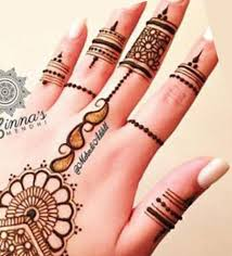 front fingers simple and easy henna mehndi designs images