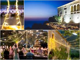 Fairy Lights In Trees by Festoons And Fairy Lights For Your Wedding In Mallorca Spain
