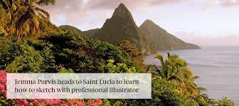 learn to sketch in saint lucia kuoni travel