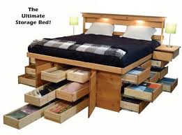 Bed Platform With Drawers Awesome Traditional Bedroom With King Size Platform Bed Storage