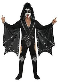 Halloween Costumes Kiss Amazon Kiss Demon Costume Black Large Clothing