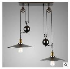 Adjustable Pendant Light 2 Nordic Industrial Style Creative Pendant Light Vintage Iron