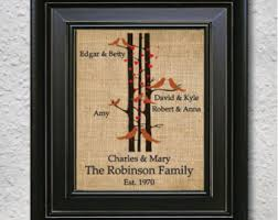 Engagement Gift From Parents Family Tree Gift Etsy