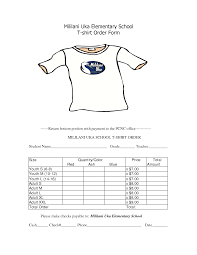 dinner order form template 35 awesome t shirt order form template free images projects to