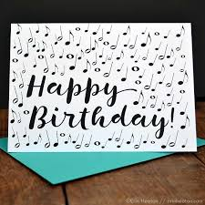musical cards note confetti happy birthday card note gifts and