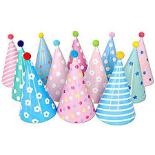 birthday hats birthday party cone hats with pom poms 12 ct toys