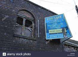 derelict commercial property for sale burslem stoke on trent stock