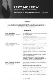 Hotel Front Desk Agent Front Desk Agent Resume Samples Visualcv Resume Samples Database