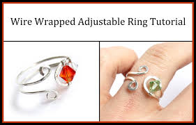make wire rings images Easy jewelry tutorial wire wrapped adjustable ring with crystals jpg