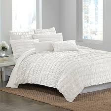 dkny ruffle wave duvet cover in white bed bath u0026 beyond