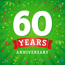60 years anniversary 60 years anniversary logo celebration card 60th anniversary