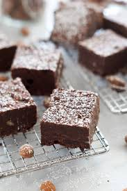 fudgy almond butter flourless brownies with salt and wit