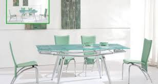 Frosted Glass Dining Table And Chairs Extendable Oval Frosted Glass Top Leather Dining Room Design