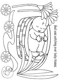 Image Result For Baby Moses Crafts For Preschoolers Activity Bible Coloring Pages Moses