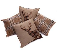 Stag Cushions Set Of 4 Tartan Stag U0026 Tartan Check Brown Beige Collection 18