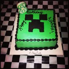 8th birthday minecraft creeper cake 2015 halloween party go