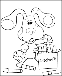 printable blues clues coloring pages for kids house blue cartoons