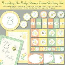 baby shower kits items similar to bumble bee baby shower printable party kit