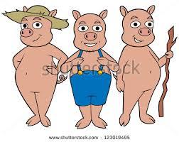 pigs standing stock vector 123019495 shutterstock