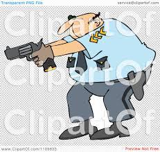 clipart cartoon police officer aiming his gun royalty free