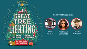 lenox tree lighting 2017 macy s great tree lighting airs live sunday on channel 2 wsb tv