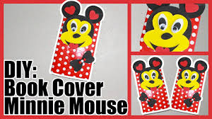 disney diy minnie mouse book cover crafts for kids silly kids