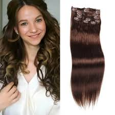in hair extensions unice 100g 4 medium brown hair extensions clip in hair 8pcs set