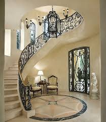 Mediterranean Wall Sconces Mediterranean Staircase With Concrete Floors U0026 Wall Sconce