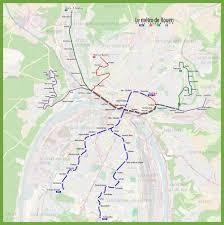 map of rouen rouen metro map