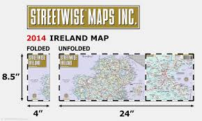 streetwise ireland map laminated country road map of ireland