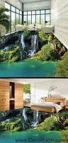 Waterfalls Decoration Home Waterfall Cliff Green Mountain 00096 Floor Decals 3d Wallpaper