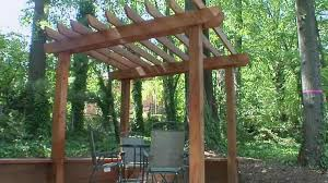 stonework patio arbor ideas accents this pergola for an outdoor