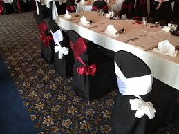black chair covers book your chair covers now for the 2013 wedding season maumee bay