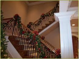 Christmas Banister Garland Ideas Christmas Staircase Garland Ideas U2014 Bathroom Decorations Simple